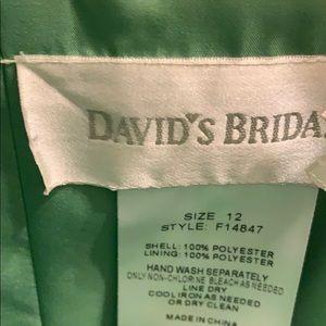 Green bridesmaid dress